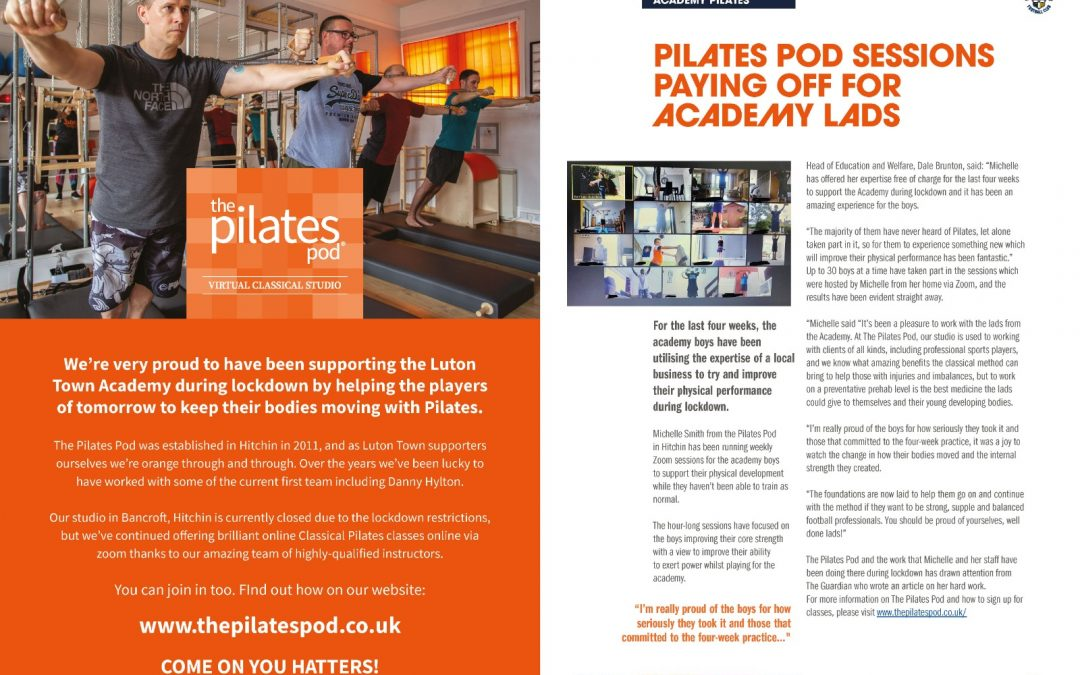 POD FEATURE IN LUTON TOWN FC PROGRAMME!