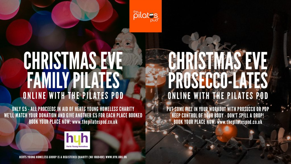 Christmas Eve classes at The Pilates Pod