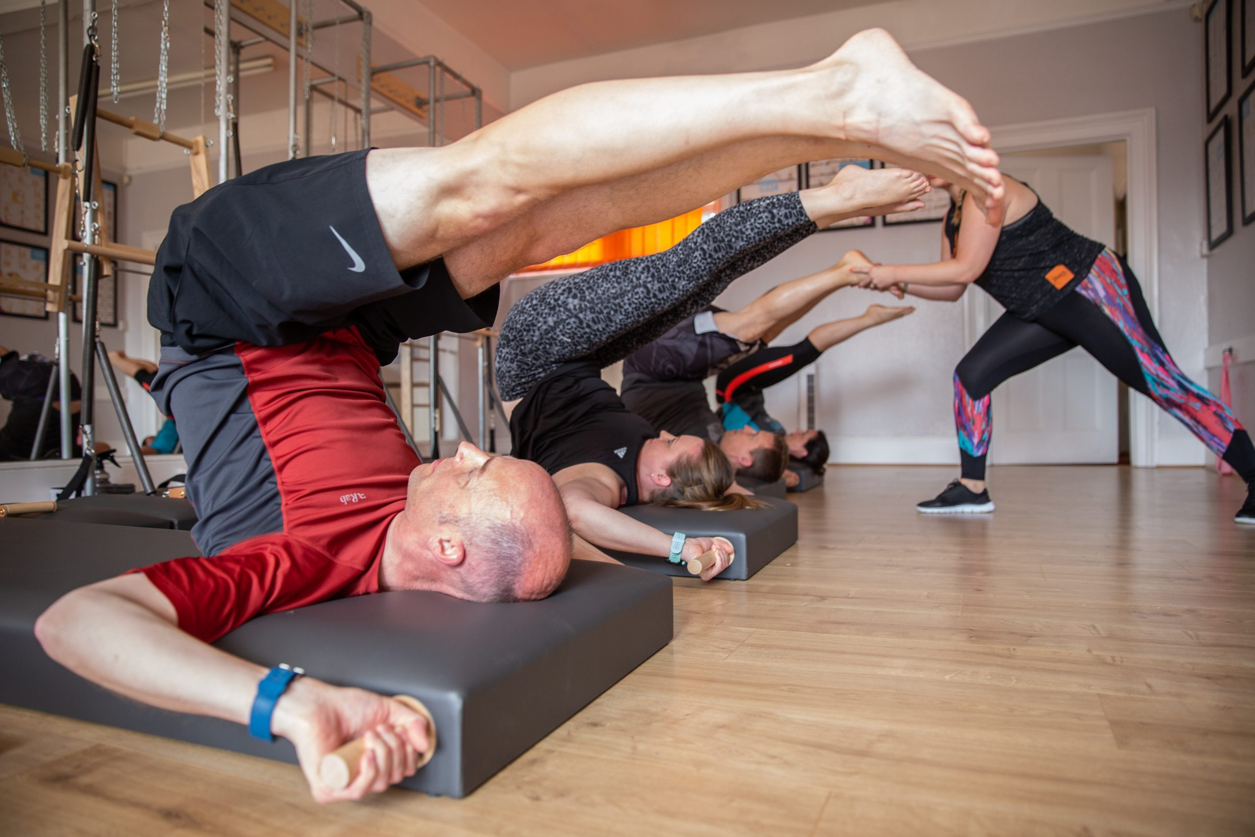 A classical Pilates class in full flow
