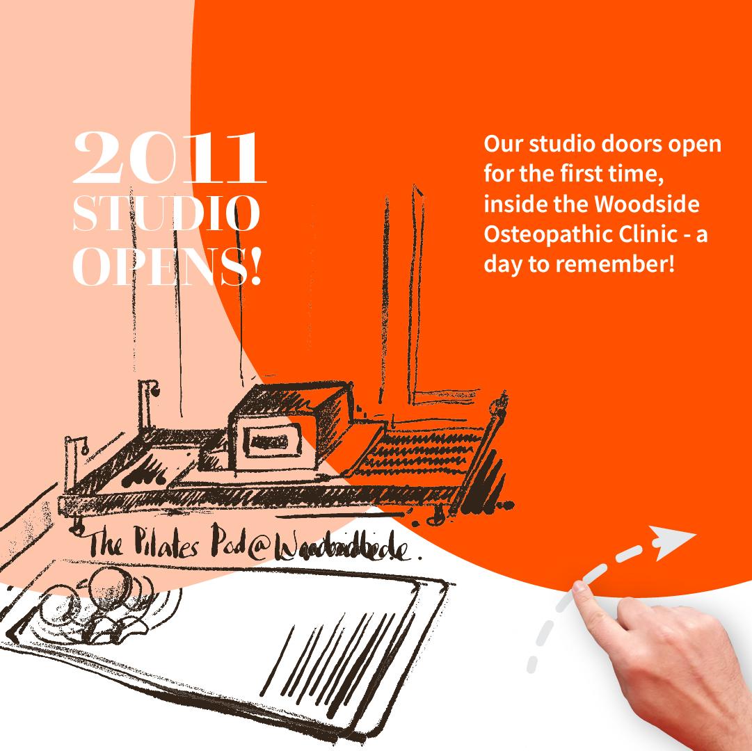 2011 - The First Pilates Pod Studio Opens