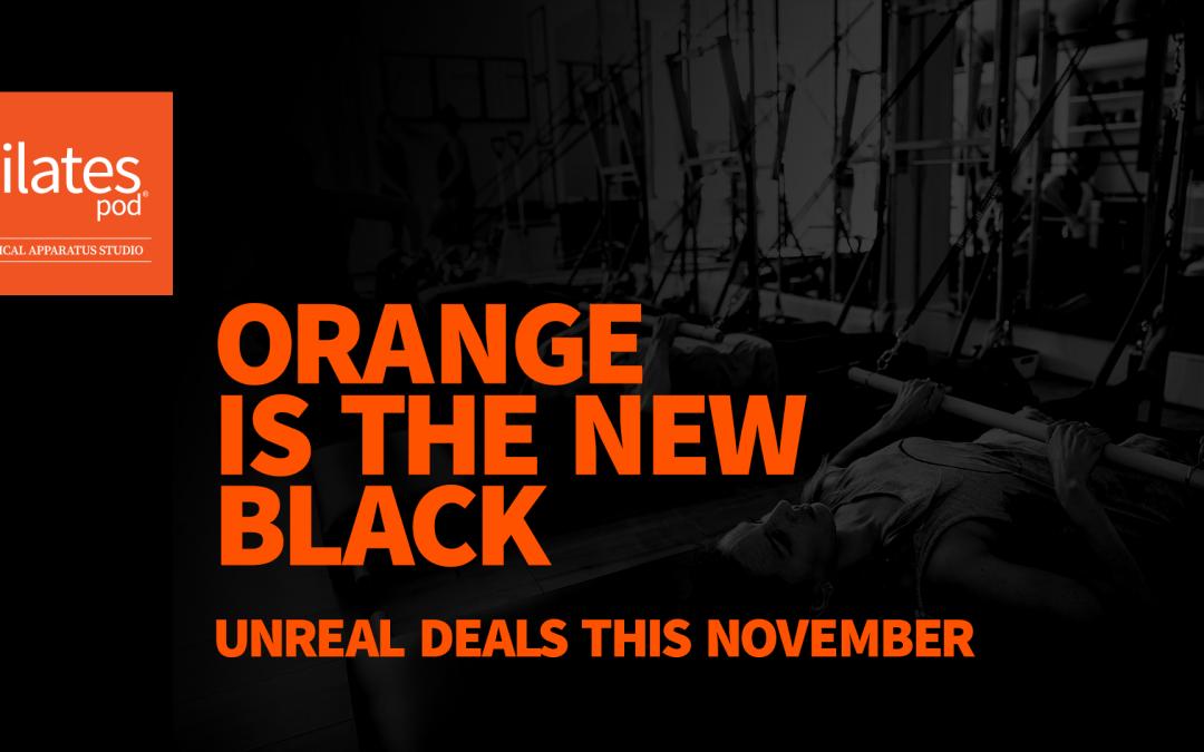Orange is the new black! Amazing November offers…